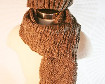 Toasty Brown Scarf - Matching Hat Sold Separately