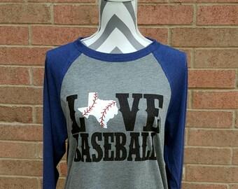 Baseball Mom Shirt Baseball Texas Shirt Baseball Bling Love Baseball