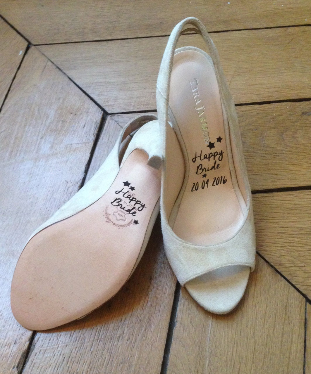 Stickers Wedding Shoes: HAPPY BRIDE For Footwear