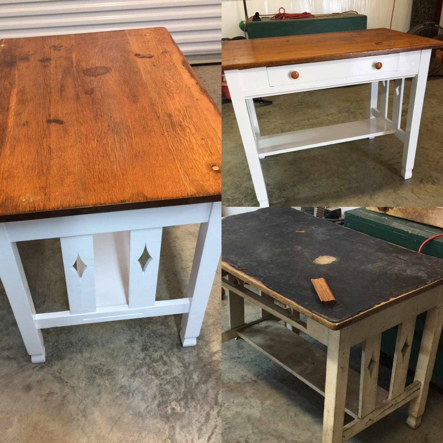 EXAMPLE Refinished Antique Kitchen Work Table