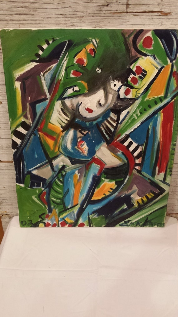 Picasso Style 16x20 Oil on Canvas by Schuylerville, NY Artist Erik Laffer. A Nice Gift Idea.
