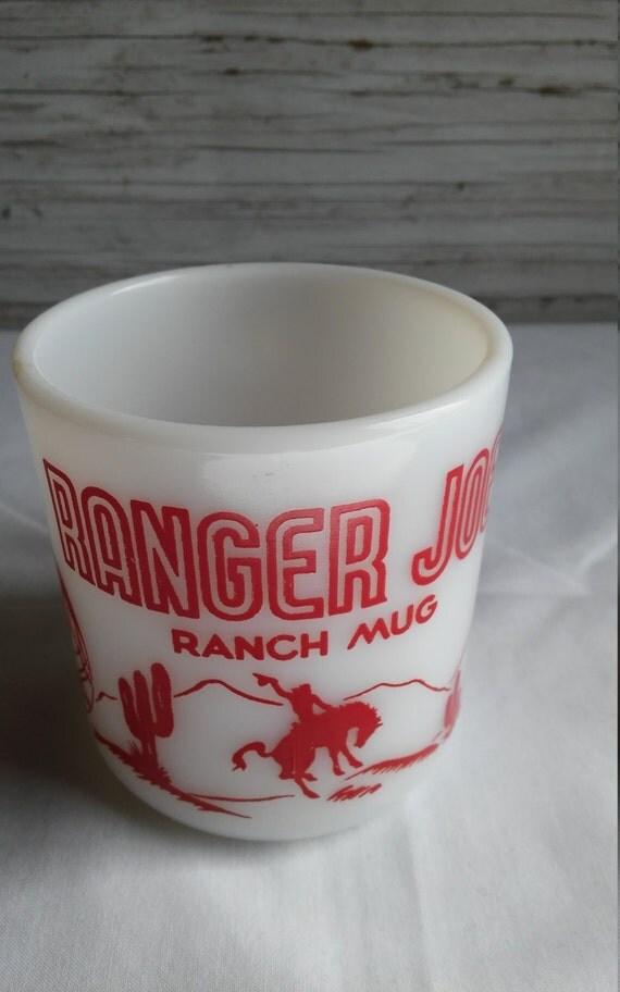 "Vintage 1950s Hazel Atlas 8 oz. ""Ranger JOE Ranch Mug"""