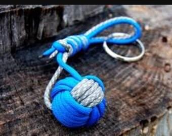 Monkey Fist Knot Keychain