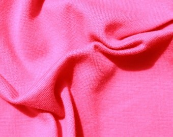 Finerib Combed Cotton and Lycra, Strong Pink, Self-coloured