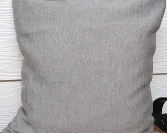 Linen Fabric Cushion Cover - hand made - 45x45cm - tie fasteners