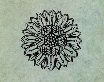 Neoclassical Flower 1 - Antique Style Clear Stamp
