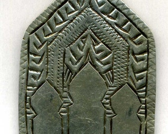 "Morocco – ""Gates of Paradis"" old Silver Pendant for necklace"