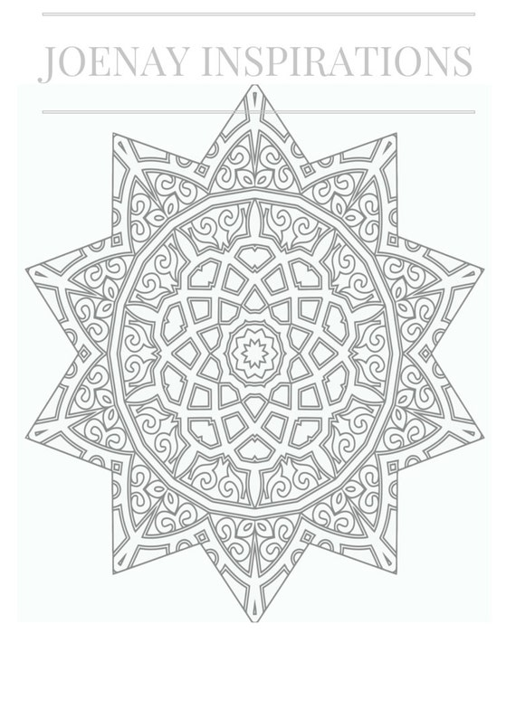 Adult Coloring Book, Printable Coloring Pages, Coloring Pages, Coloring Book for Adults, Instant Download Magnificent Mandalas 2 page 13