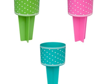 Beach Spiker - Blank with Polka Dots - Lowest Price YET!