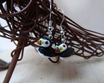 Seabird earrings - Puffin (Fratercula arctica)