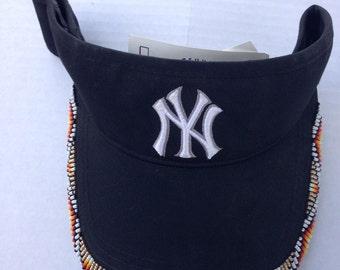 New York Yankees Beaded Visor