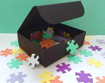 Puzzle Confetti w/ FREE BOX! 150 Pieces!Small One Inch Pieces!Colorful Party Confetti! Jigsaw Confetti! Small Puzzle Scatter!Showers & More!