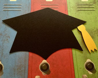 Large Graduation Cap Die Cuts!Over 9 Inches Wide! Grad Caps! 2017 Graduation Celebration! Graduation Hats! Choose Plain or Accented Tassels!