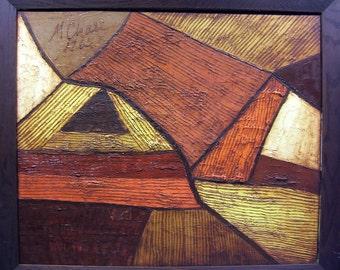 60's Beatnik abstract earthy colors
