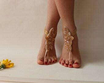 Beach Wedding Barefoot Sandals,Foot Jewelry,Bridal Anklet,Wedding Shoes,Bridal Shoes,Wedding Accessory