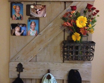 Old barn wood door/new wall decor