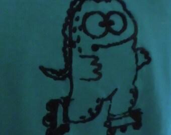 Embroidered T-shirt Godzilla KUMI