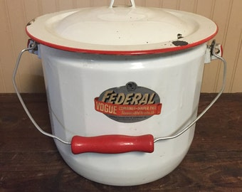 Vintage Federal Vogue Combinet Diaper Pail