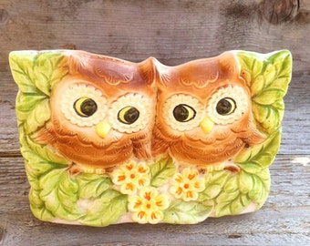 OWL napkin holder- Vintage - Cute!
