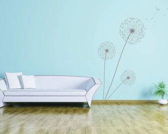 Dandelion Wall Art | Vinyl wall decal, available in 25 matt vinyl colours