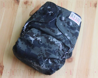 Military Diapers - Navy Diapers - Cloth Diapers - Adjustable Diapers - PUL Cover - Pocket Diaper - Diaper Cover