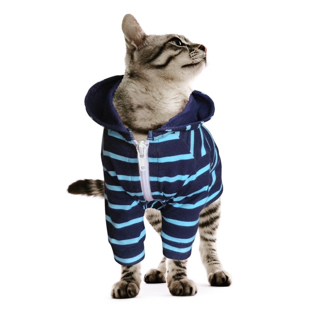 Hoodie for Cat Clothes for Cat Stretch Made of Spandex Cotton