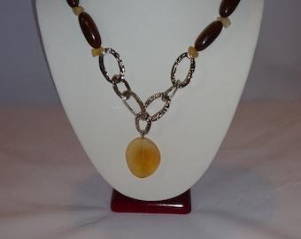 Exotic Wood necklace, bracelet and earing set.