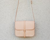 Nude leather bag women, crossbody bag women, minimalist leather bag, handmade leather bag, leather crossbody bag,