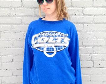 Indianapolis Colts 90s Logo 7 Sweatshirt Medium / Small