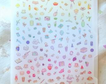 matte rainbow file folder featuring bitmapdreams pixel art