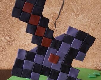 Minecraft Cake Topper Etsy