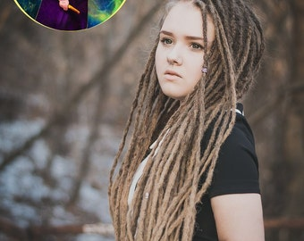 x10 or full set Crochet synthetic dreads Natural look dreads Handmade dreads Double ended dreads