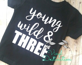 YOUNG WILD & THREE t-shirt