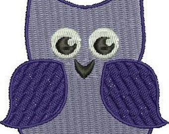 Whimsical Owl Machine Embroidery Design