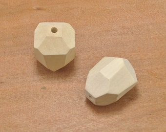 wooden geometry bead supply 40x28mm,8pcs large faceted wood bead finding,wood necklace,wood pendant,jewelry making,wood craft