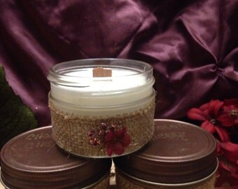 4oz Natural Soy Wood Wick Candle