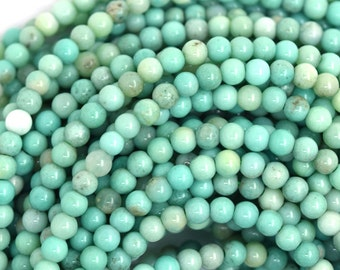 "3mm green chrysoprase round beads 16"" strand 36607"