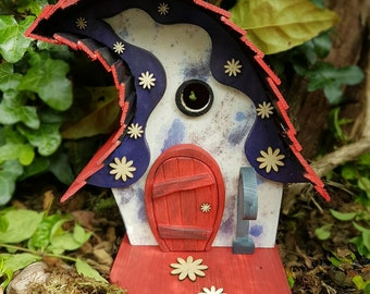 QUIRKY WONKY birdhouse /handmade/Garden art /bird houses /birdhouses /bird house