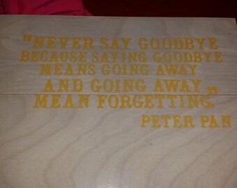 Peter pan saying