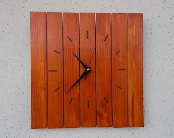 Handmade Wood Wall Clock, Modern Wood Wall Clock, Wall Clock, Retro Style, Unique Gift, Home Decor, Modern Decor, Inexpensive Gift,Gift Idea