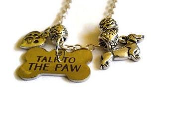 Dog lover necklace - dog necklace - dog lover jewelry - dog lover gift - dog jewelry - necklace - dog paw necklace - dog paw pendant -
