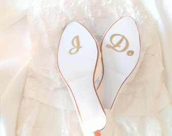 I Do Wedding Decal for Bridal Shoes- Large Cursive