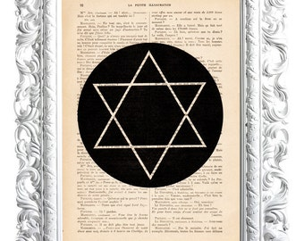 Star. Print on French publication of illustration. 28x19cm.