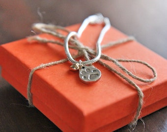 Custom Pawprint Charm Bracelet Pandora Style