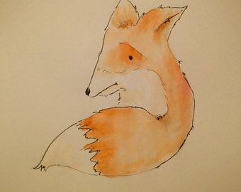 Fox Illustration / Young Fox Cub