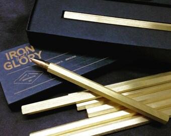 Six-Sided Brass Pen