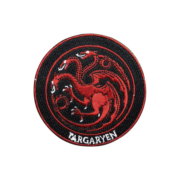 Game of Thrones Patch Targaryen Patch Embroidered Movie Iron On Sew On Patches