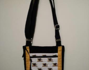 Michigan Tech cross body hipster purse.
