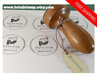 Custom Rubber Stamp - Etsy Logo - Wedding - Business Card Stamp - Custom Business Stamp - Any Image Stamp