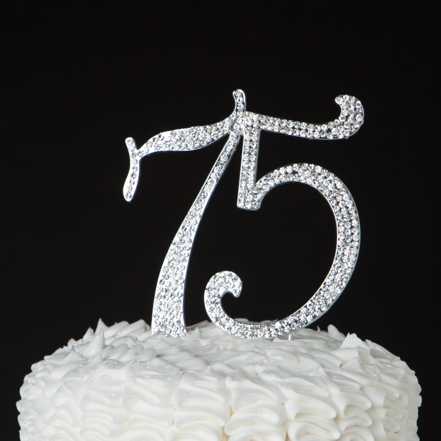 75 cake topper 75th birthday 75th anniversary silver party for 75th birthday decoration